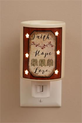 Tart Warmer - Faith Hope Love