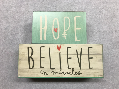 Hope Believe Sign