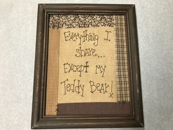 Teddy Bear Stitched Picture