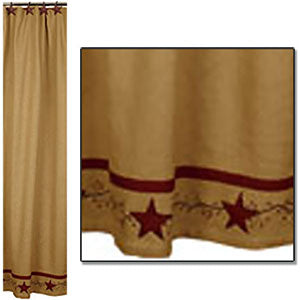 Cotton Burlap Shower Curtain