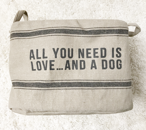 Dog Toy Bag - Love And A Dog