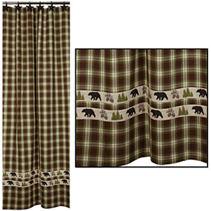 Woodland Plaid Shower Curtain