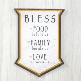 White Bless Sign