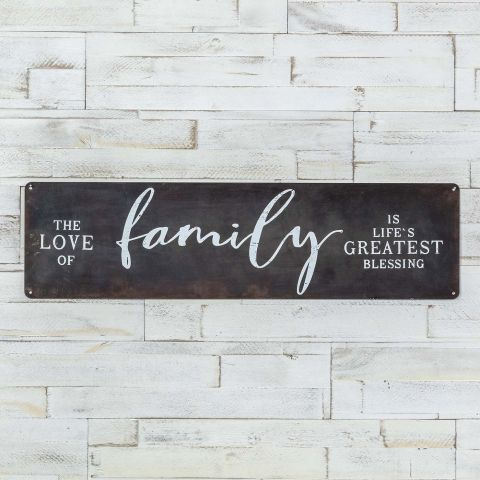 BURNISHED METAL FAMILY SIGN