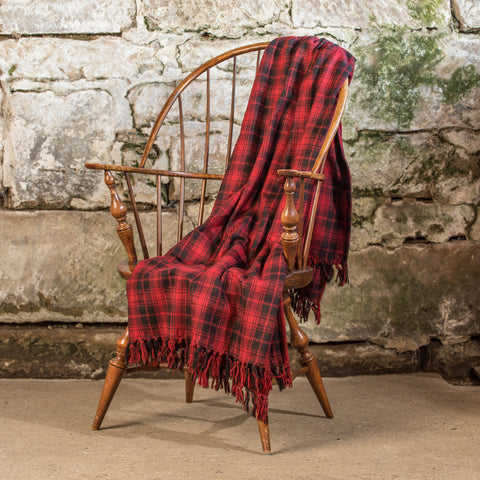 RED & BLACK PLAID THROW