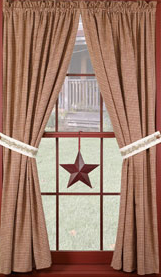 "Cranberry Country Star 84"" Panels"