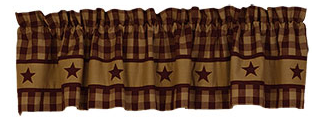 Cranberry Country Star Valance