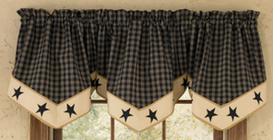 Sturbridge Black Star Lined Valance