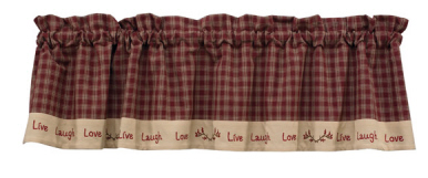 Sturbridge Laugh Lined Wine Valance