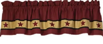 Cranberry Barn Star Valance