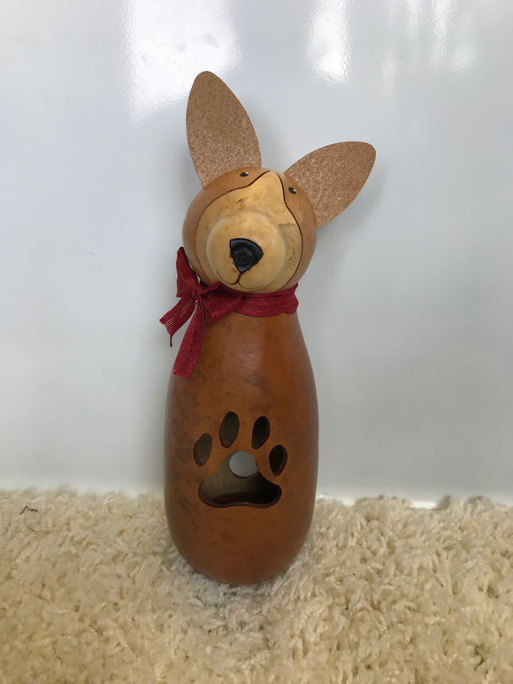 Max the Dog Lit Gourd