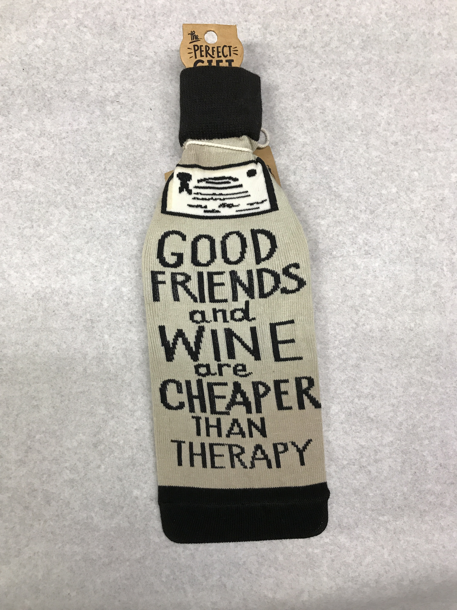 Cheaper Than Therapy Bottle Sock