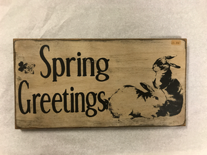 Spring Greetings Sign