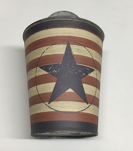 Stars And Stripes Tin Bucket