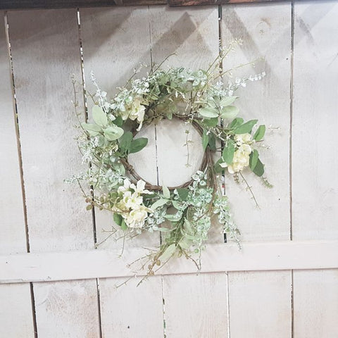 Garden Hydrangea 6.5in Candle Ring
