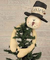 Believe Snowman Tree Topper