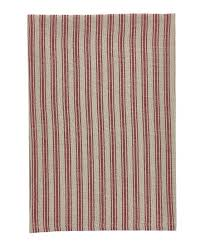 Red Stripe Dish Towel