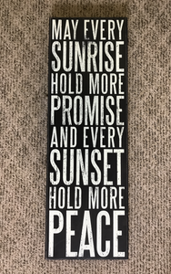 Sunrise Sunset Sign