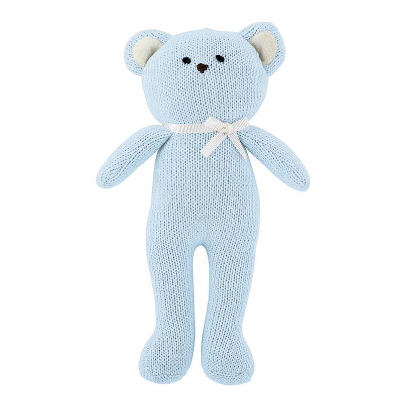 Blue Bear Knit Toy