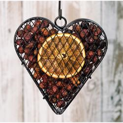 Wire Mesh Heart w/Orange Potpourri