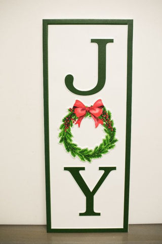 Joy Metal Sign