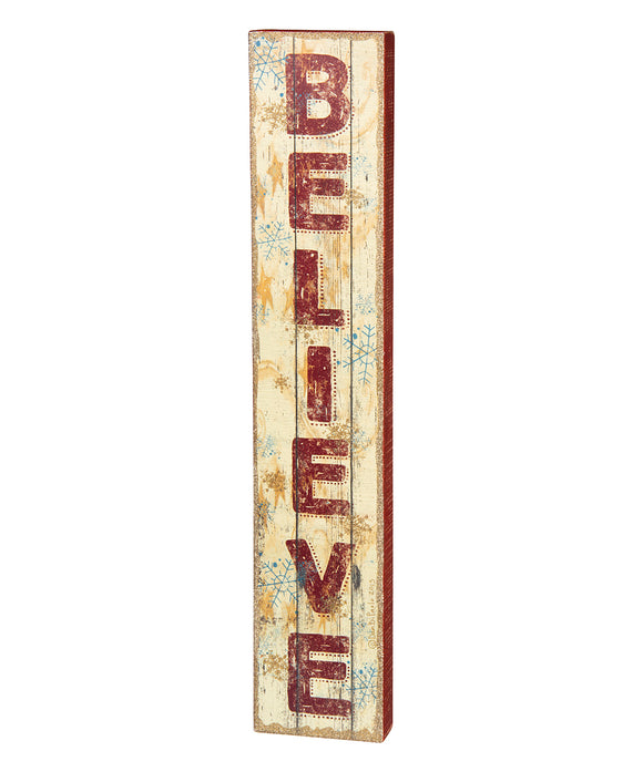 Box Sign- Believe (Vertical)