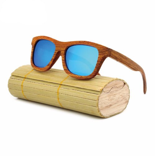 KRIS Wooden Polarized Sunglasses