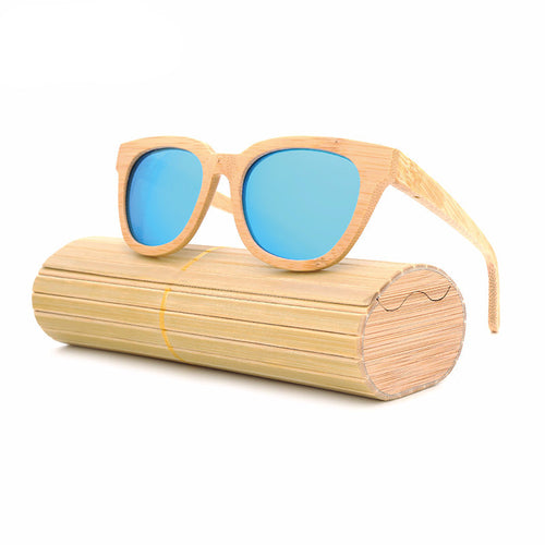 Mia Cat-Eye Wood Sunglasses