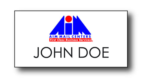AIM Mail Centers Name Badges