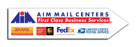AIM Mail Centers Arrow Sign