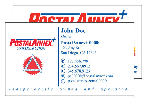 PostalAnnex+ Deluxe Business Card