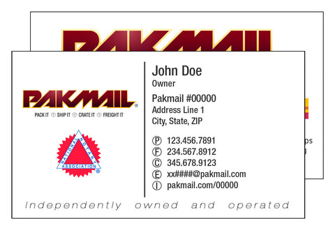 Pak Mail Deluxe Business Card
