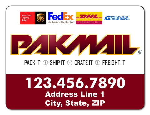 Pak Mail Vehicle Magnets