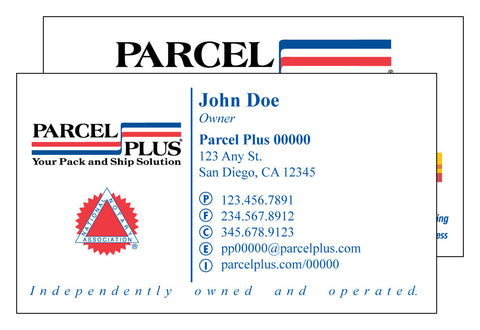 Parcel Plus Deluxe Business Card