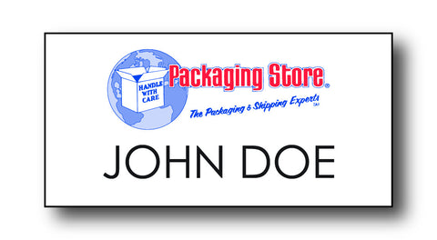 Handle With Care Packaging Store Name Badges