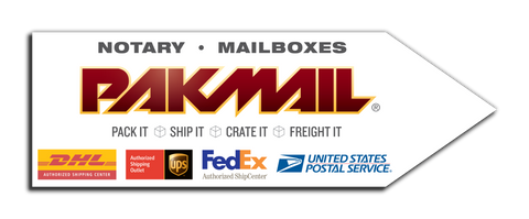 Pack Mail Arrow Sign