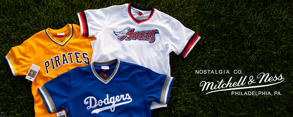 df5240a33 Mitchell   Ness. Shop collection · LOS ANGELES DODGERS MESH V-NECK