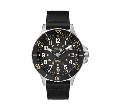 ALLIED COASTLINE 43MM LEATHER WATCH