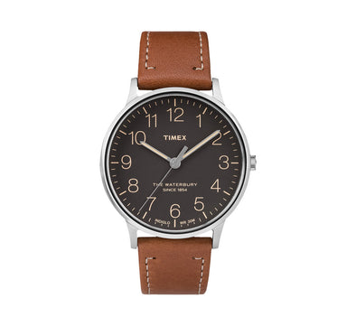 WATERBURY CLASSIC 40MM LEATHER WATCH