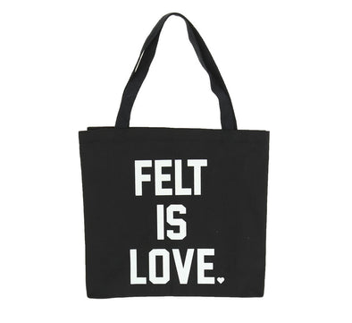 FELT IS LOVE TOTE BAG, BLACK