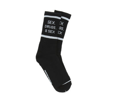 SEX, DRUGS AND SEX SOCKS, BLACK