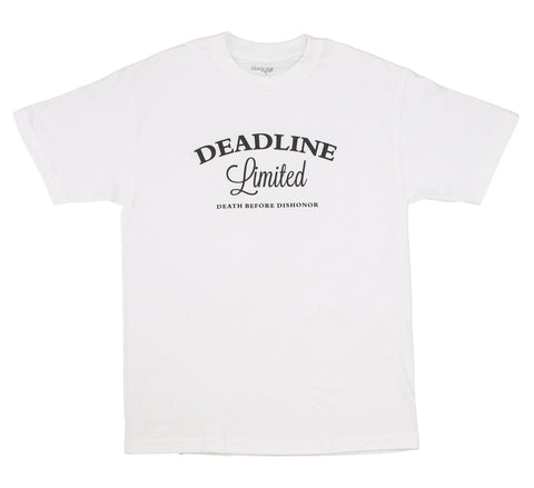 DEATH BEFORE DISHONOR TEE, WHITE