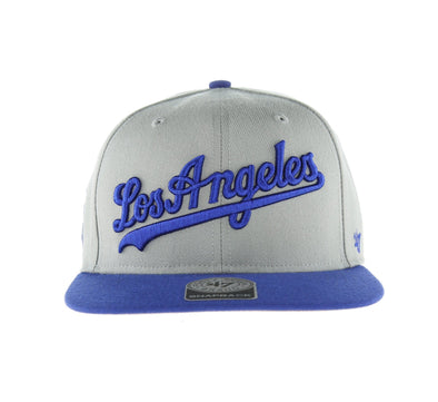 DODGERS GRAY SCRIPT SIDE TWO TONE 47 CAPTAIN