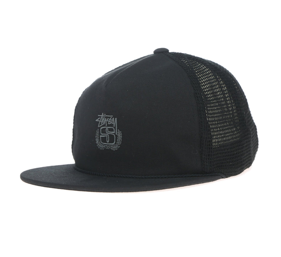 COTTON MESH CAP-BLACK