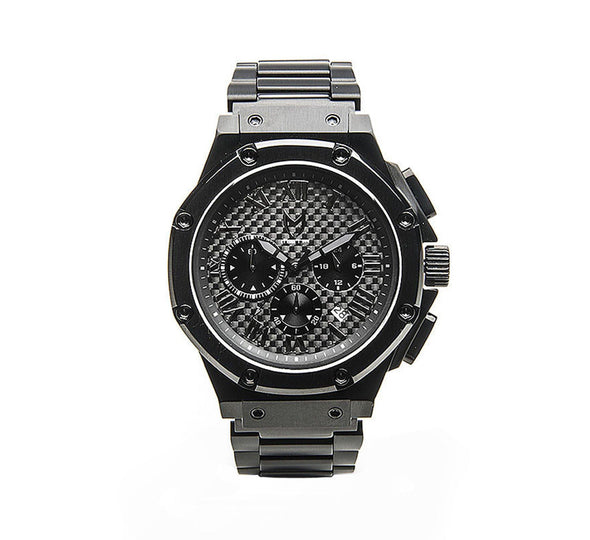 AMBASSADOR ALL BLACK, STAINLESS STEEL BAND