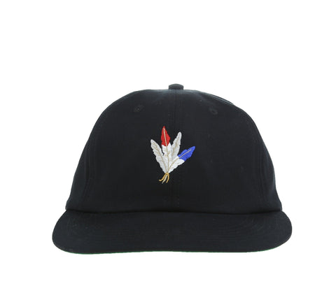FEATHERS 6-PANEL CAP, BLACK