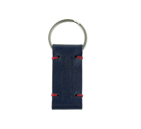 QUIET LIFE LEATHER KEYCHAIN, NAVY, OS