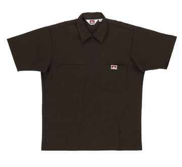 1/2 ZIPPER SHORT SLEEVE SOLID