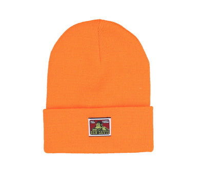 BEANIE W/BEN DAVIS LOGO, ORANGE