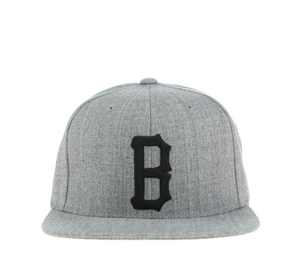 B LOGO SNAPBACK, HEATHER GREY